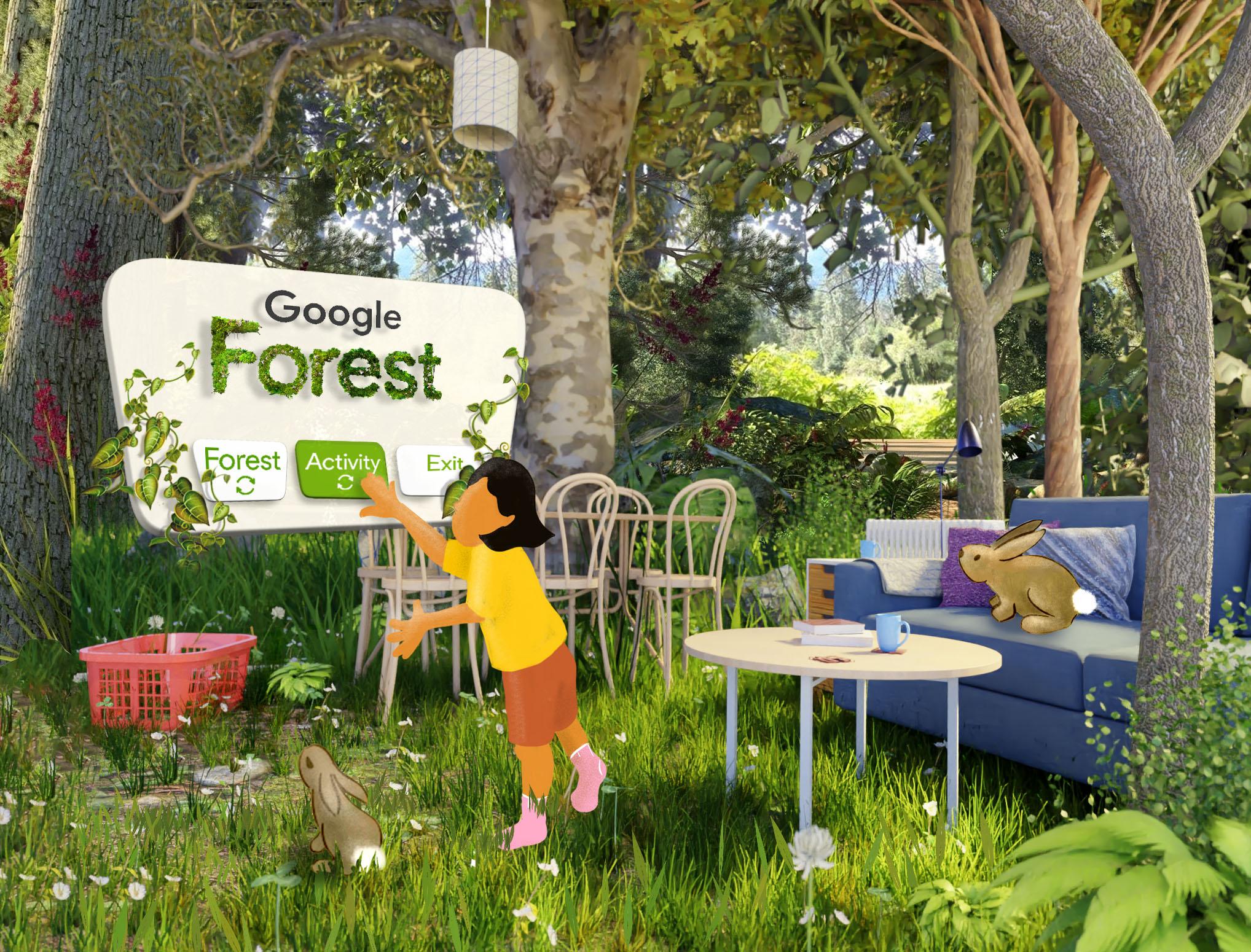 Google Forest main screen
